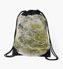 Lichen on tomb in Shalwy Valley, Kilcar, Donegal Drawstring Bag