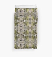 Lichen on tomb in Shalwy Valley, Kilcar, Donegal Duvet Cover