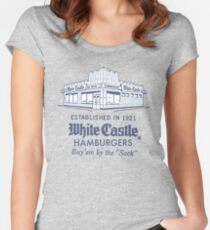 WHITE CASTLE Women's Fitted Scoop T-Shirt