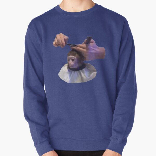 Monkey Haircut Pullover Sweatshirt