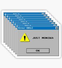 Doki Doki Literature Club Anime Visual Novel Video Game Just Monika Windows Error Sticker