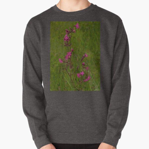 Red Campion in Burntollet Woods Pullover Sweatshirt