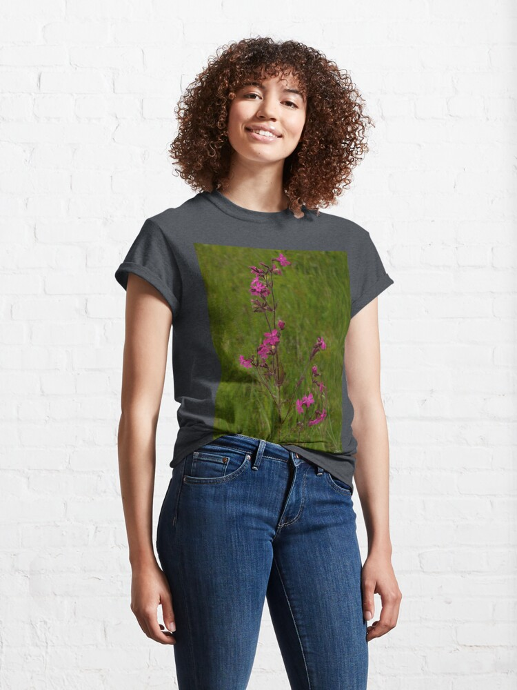 Alternate view of Red Campion in Burntollet Woods Classic T-Shirt