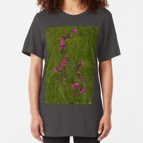 Red Campion in Burntollet Woods Slim Fit T-Shirt