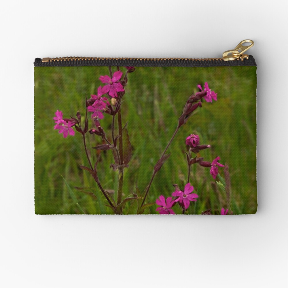 Red Campion in Burntollet Woods Zipper Pouch