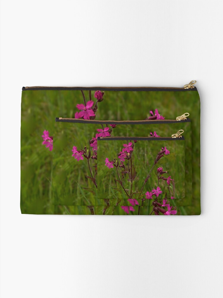Alternate view of Red Campion in Burntollet Woods Zipper Pouch