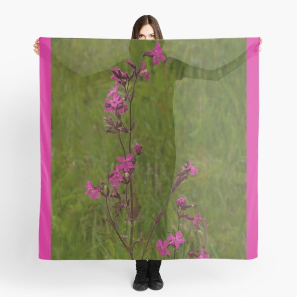 Red Campion in Burntollet Woods Scarf