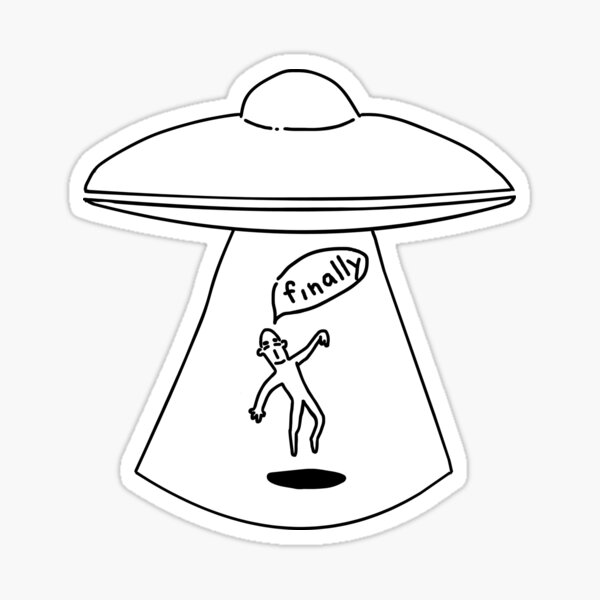 alien_abduction Sticker