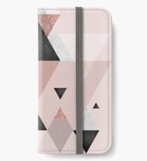 Geometric Compilation in Rose Gold and Blush Pink iPhone Wallet/Case/Skin