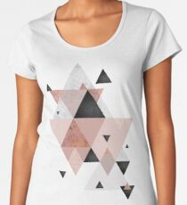 Geometric Compilation in Rose Gold and Blush Pink Women's Premium T-Shirt