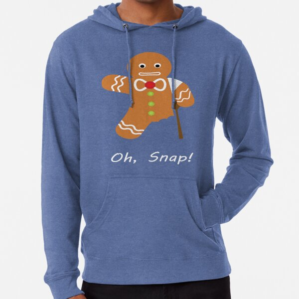 Oh, Snap Funny Gingerbread Man Lightweight Hoodie