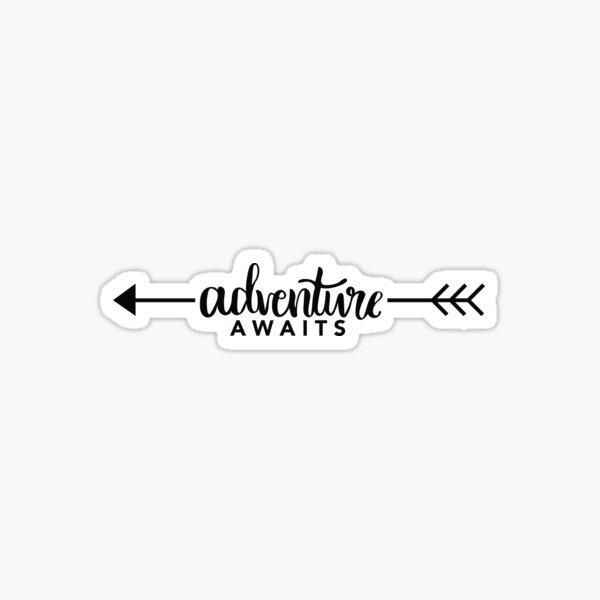 Adventure Awaits Arrow Sticker