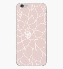 Blush Pink Succulent iPhone Case