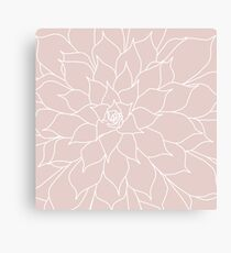 Blush Pink Succulent Canvas Print