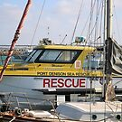 Yellow Rescue Boat by kalaryder