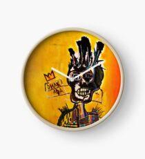 African Skull Man Clock