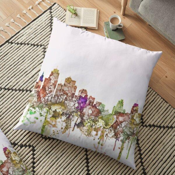 Kansas City, Missouri Skyline - Faded Glory Floor Pillow