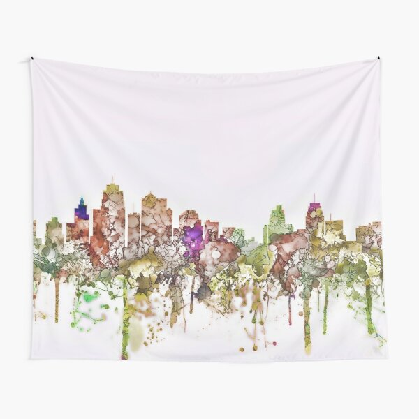 Kansas City, Missouri Skyline - Faded Glory Tapestry