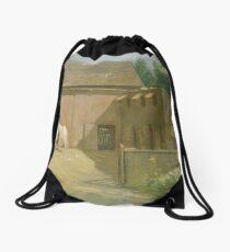 New England Barnyard by Julian Alden Weir Drawstring Bag