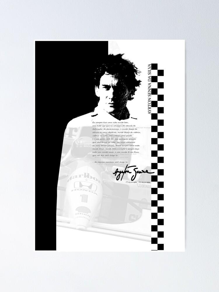 Ayrton Senna Motivational Poster