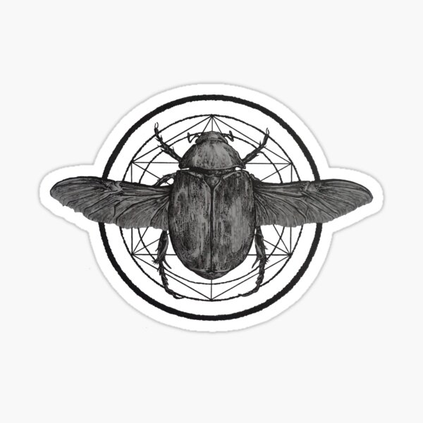 Scarab Sacred Geometry Sticker