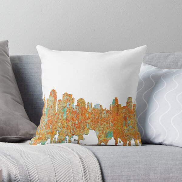 Kansas City, Missouri - Rust Throw Pillow