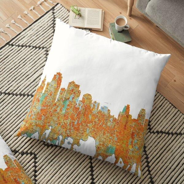 Kansas City, Missouri - Rust Floor Pillow