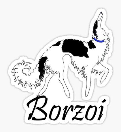 Tri Borzoi Sticker
