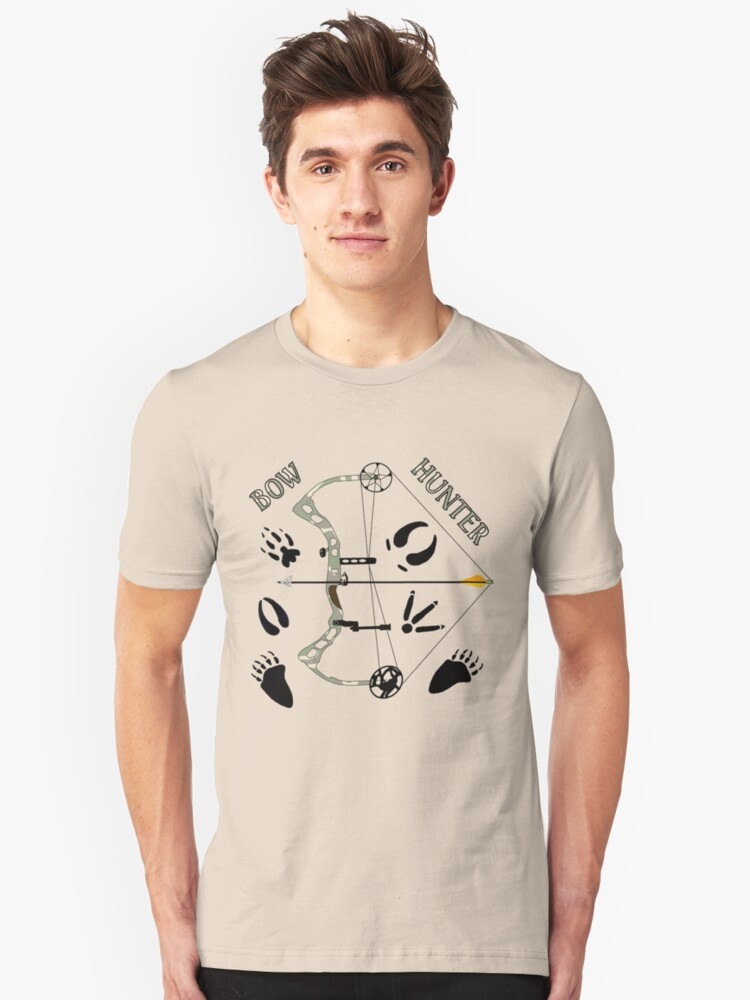 """""""Bow Hunter"""" Gifts & Apparel Unisex T-Shirt Front"""