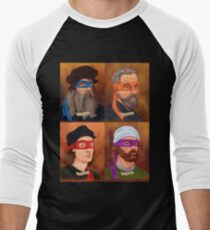 The Renaissance Ninja Artists Men's Baseball ¾ T-Shirt