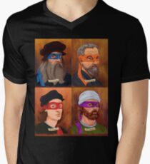 The Renaissance Ninja Artists Men's V-Neck T-Shirt