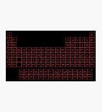 Klingon Periodic Table Photographic Print