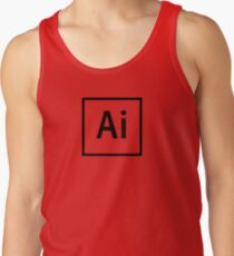 Adobe Illustrator Logo - Black Outline (Transparent) Tank Top