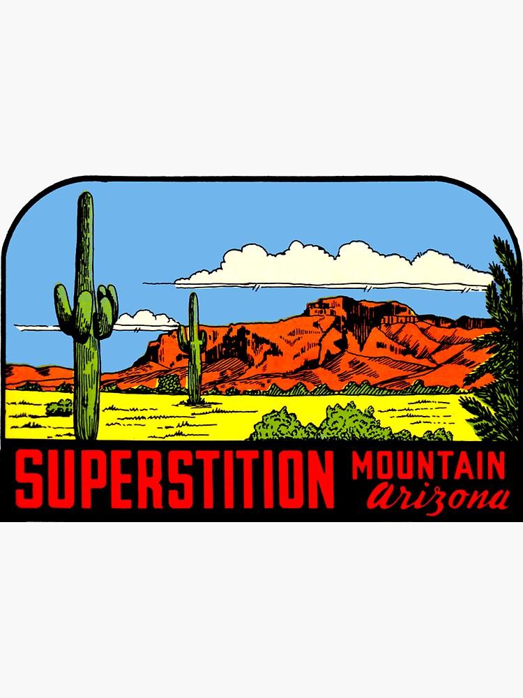 Superstition Mountains Arizona Vintage Decal Calcomanía de hilda74