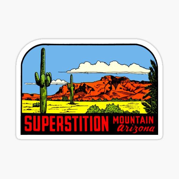 Superstition Mountains Arizona Vintage Travel Decal Sticker
