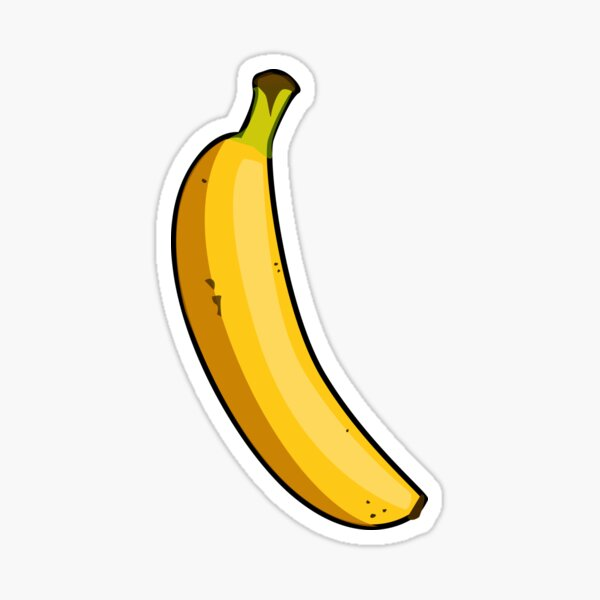 Cartoon Banana Sticker