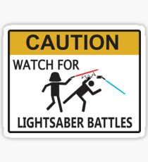 Lightsaber Battles Sticker