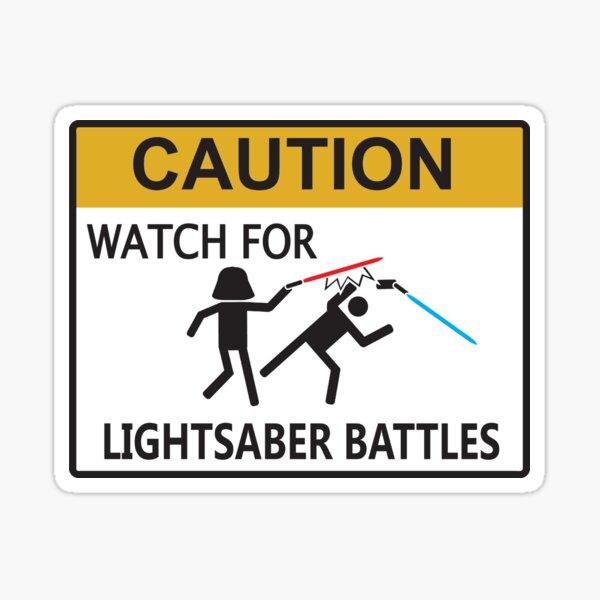 Lightsaber Battles Sticker