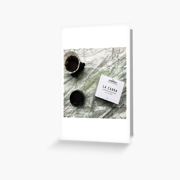 Coffee and Maps Series: La Cabra and Rothrock Greeting Card