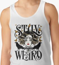 Rose and The Ravens {Stay Weird} Colour Version Tank Top