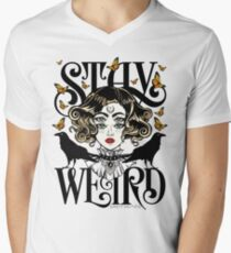 Rose and The Ravens {Stay Weird} Colour Version Men's V-Neck T-Shirt