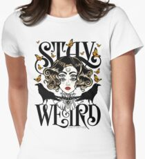Rose and The Ravens {Stay Weird} Colour Version Women's Fitted T-Shirt