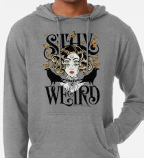 Rose and The Ravens {Stay Weird} Colour Version Lightweight Hoodie
