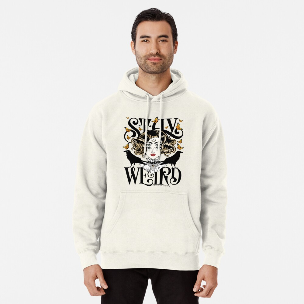 Rose and The Ravens {Stay Weird} Colour Version Pullover Hoodie