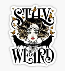 Rose and The Ravens {Stay Weird} Colour Version Sticker