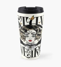 Rose and The Ravens {Stay Weird} Colour Version Travel Mug