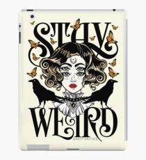 Rose and The Ravens {Stay Weird} Colour Version iPad Case/Skin