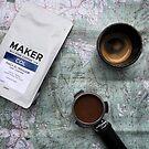 Coffee and Maps Series: Maker Fine Coffee and Espresso Portafilter by bikehikebrew