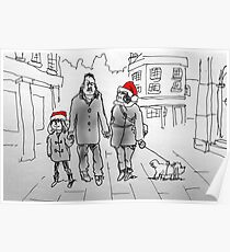 Christmas stroll through Bath Poster
