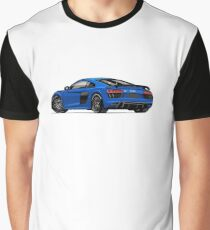Audi R8 Sports Blue Graphic T-Shirt